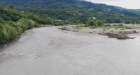 The riverbanks of the Rioni River were reinforced as part of the Adaptaiton Fund project in Georgia (Zarati village).