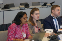 Gitika Goswami (Development Alternatives, India) & Mariam Devidze (Green Alternative, Georgia) providing on-the-ground insights and concrete recommendations on behalf of the AF NGO Network at the Fund's Board meeting in June 2019