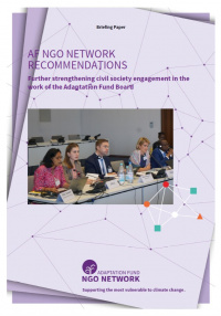 Cover: AF NGO NETWORK RECOMMENDATIONS